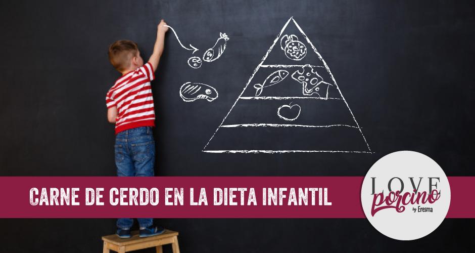 Carne de cerdo en la dieta infantil